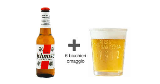 Promo Ichnusa con bicchieri